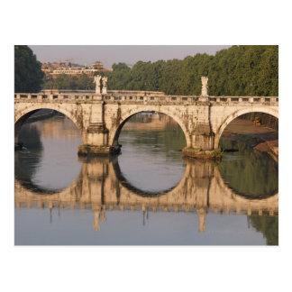 Ponte Sant'Angelo, Tiber River, Rome, Italy Postcard