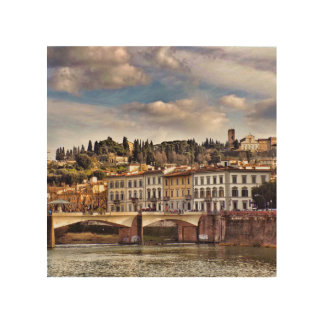 Ponte Vecchio in Florence Wooden Art Block Wood Print