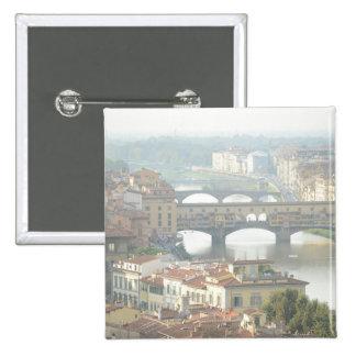 Ponte Vecchio Old Bridge Florence Italy 15 Cm Square Badge