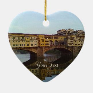 Ponte Vecchio Old Bridge Florence Italy Gift Ceramic Ornament
