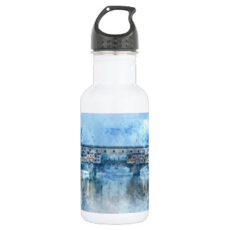 Ponte Vecchio on the river Arno in Florence, Italy 532 Ml Water Bottle