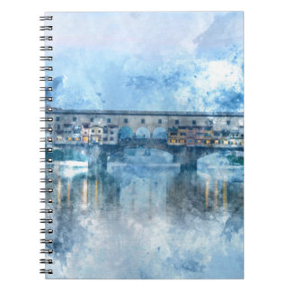 Ponte Vecchio on the river Arno in Florence, Italy Notebook