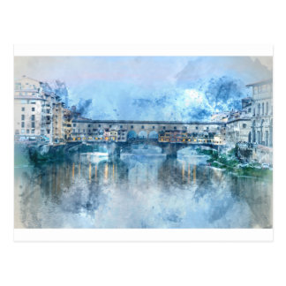 Ponte Vecchio on the river Arno in Florence, Italy Postcard