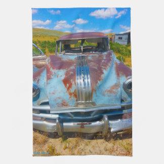 Pontiac Blues Kitchen Towel Vintage Car Art