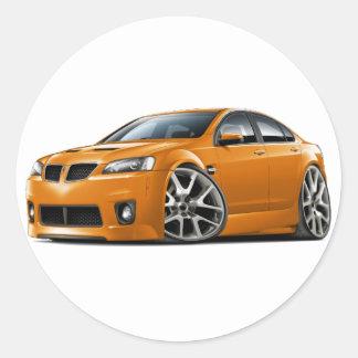 Pontiac G8 GXP Orange Car Classic Round Sticker