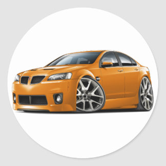 Pontiac G8 GXP Orange Car Round Sticker