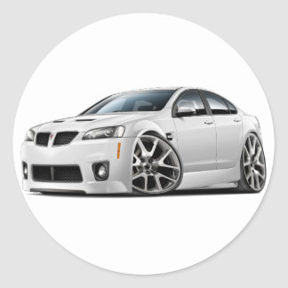 Pontiac G8 GXP White Car Round Sticker