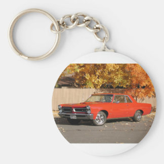 Pontiac GTO Basic Round Button Key Ring