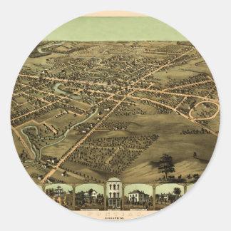 Pontiac Michigan 1867 Classic Round Sticker