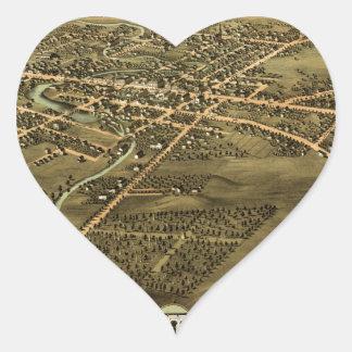 Pontiac Michigan 1867 Heart Sticker