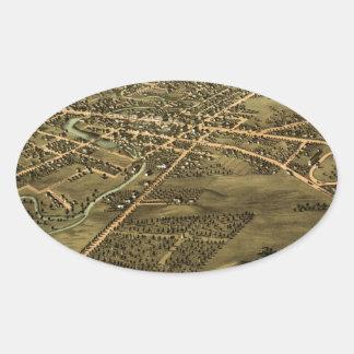 Pontiac Michigan 1867 Oval Sticker