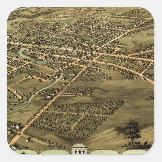 Pontiac Michigan 1867 Square Sticker