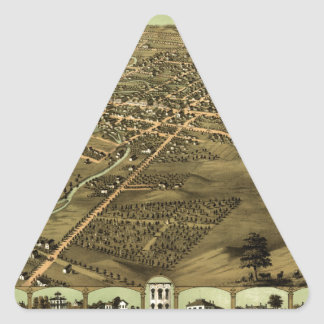 Pontiac Michigan 1867 Triangle Sticker