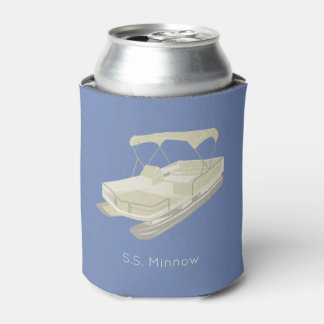 Pontoon Boat Personalized Can Cooler