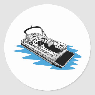 Pontoon Classic Round Sticker