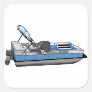 pontoon fun square sticker