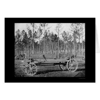 Pontoon Wagon at Rappahannock Station 1864 Greeting Card