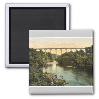 Pontycysylltau Aqueduct, Llangollen, Wales rare Ph Square Magnet