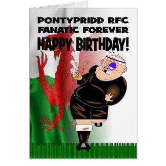 Pontypridd RFC Fanatic Forever Rugby Birthday Card