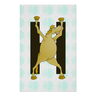 Pony Alphabet Monogram H Posters