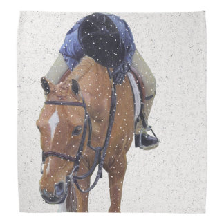 Pony and Girl in the Snow Bandana