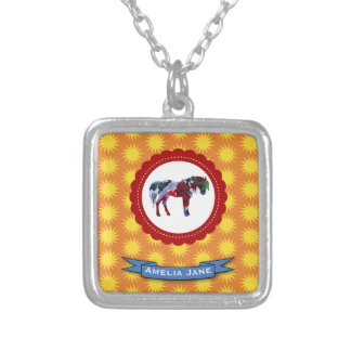 Pony and Sun Silver Plated Necklace