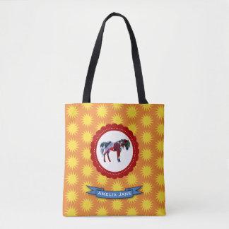 Pony and Sun Tote Bag