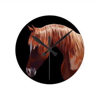 Pony Art Round Clock