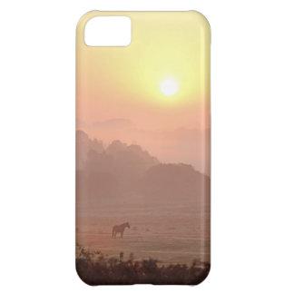 Pony-at-sunrise iPhone 5 case