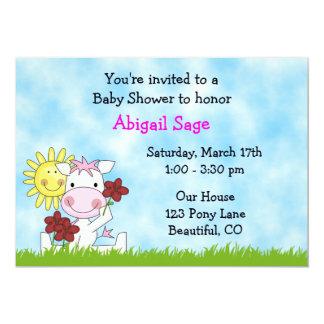 Pony Baby Shower Invitation for Girls