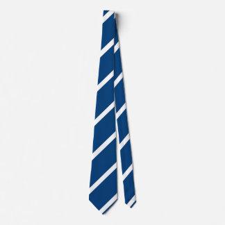 Pony Blue Diagonally-Striped Tie