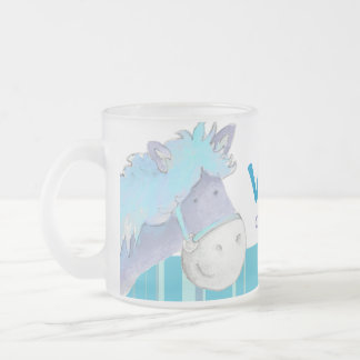 Pony blue dressage champion name kids mug