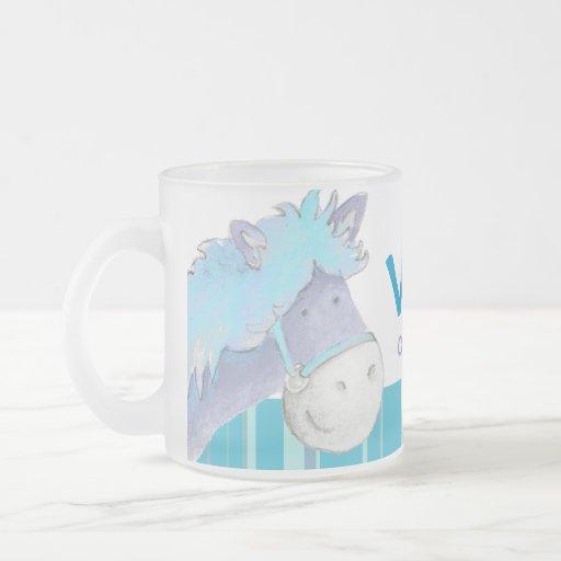 Pony blue dressage champion name kids mug