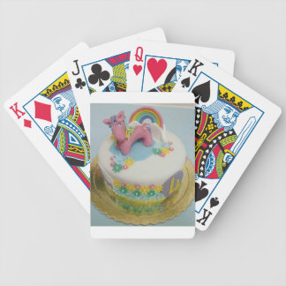 Pony cake 1 bicycle playing cards