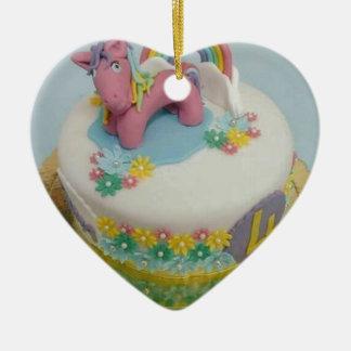 Pony cake 1 ceramic ornament