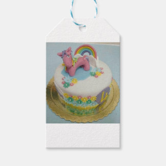 Pony cake 1 gift tags
