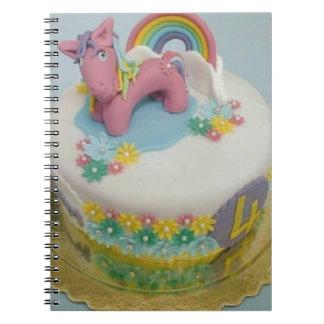 Pony cake 1 spiral notebook