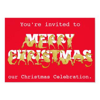 "Pony Christmas Party Invite 5"" X 7"" Invitation Card"