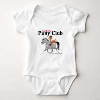 Pony Club T grey.jpg Baby Bodysuit