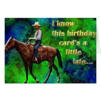 Pony Express belated birthday card