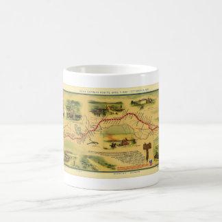 Pony Express Map by William Henry Jackson 1861 Coffee Mugs