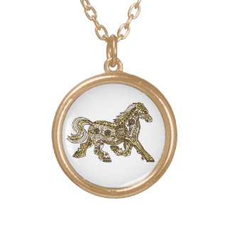 Pony Gold Plated Necklace