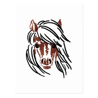 Pony Head Larger Postcard