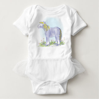 Pony in Iris Blue Baby Bodysuit
