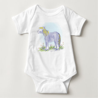 Pony in Iris Blue Baby Bodysuit