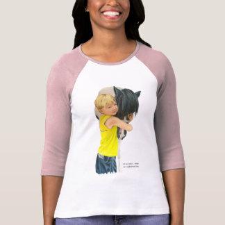 Pony Love Tshirt, 3/4 sleeves T-Shirt