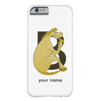 Pony Monogram Letter B Barely There iPhone 6 Case