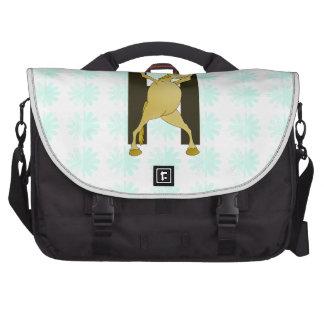 Pony Monogram Letter H Personalized Laptop Commuter Bag