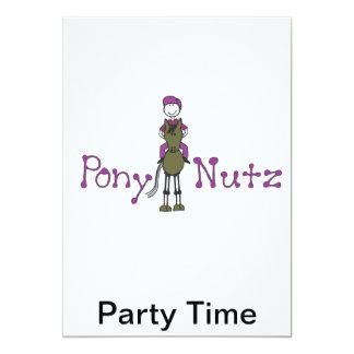 Pony Nutz childrens party invitations