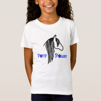 Pony Power Black and Blue T-Shirt for Girls